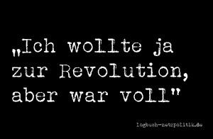 Ich wollte ja zur Revolution, aber war voll